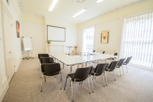 Light and airy meeting space